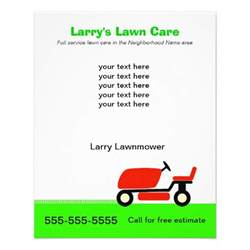lawn care flyers templates free lawn care flyers