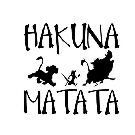 Tokomonster Decal Sticker Hakuna Matata New Iphone 13 8cm 13 3cm hakuna matata king simba car styling