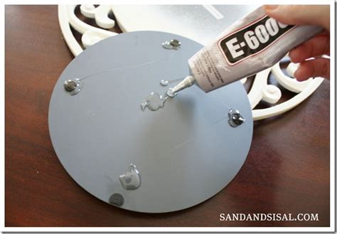 Turn A Charger Into A Mirror Sand And Sisal