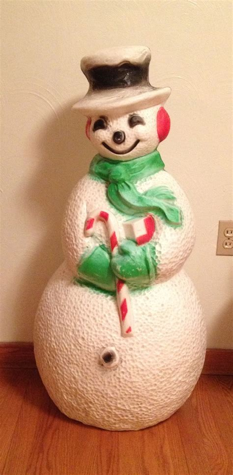 plastic light up snowman 35 best images about christmas vintage blowmolds on