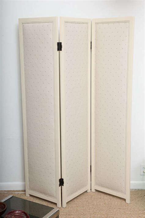 Upholstered Room Divider Upholstered Three Panel Room Divider For Sale At 1stdibs