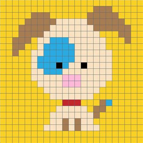 pattern unlock pixel 2 zoodiacs dog c2c crochet graph dog crochet and stitch