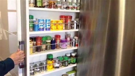 alacena junto al refrigerador como guardar las especias extraible frigorifico saving