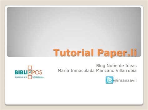 Paper L - tutorial paper li