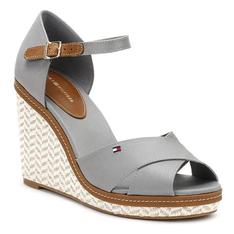 Slip On Casual Denim Grey hilfiger womens grey wedge sandals textile slip on casual shoes ebay