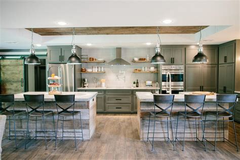 double kitchen islands fixer upper chip and joanna gaines on pinterest joanna