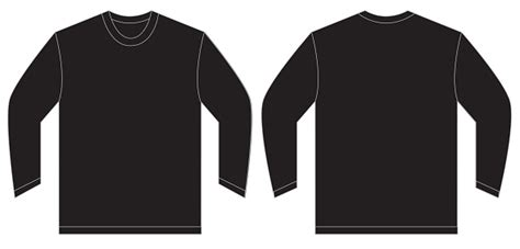 black long sleeve template www imgkid com the image