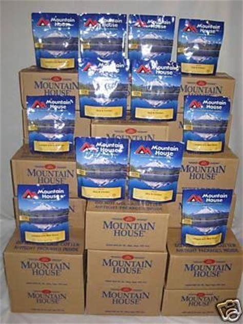 Mountain House Food Shelf by Mountain House Freeze Dried Food 11 Cases 78 Pouches 7