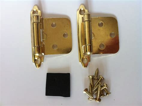 polish brass self closing flush mount cabinet hinges ebay