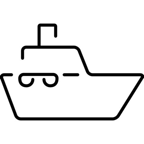 outline of boat boat ultrathin outline free transport icons