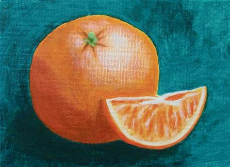 orange painting orange in acrylic paint happy a painting a day