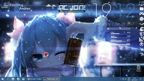 wallpaper engine and rainmeter wallpaper engine miku wallpaper rainmeter by chipazero
