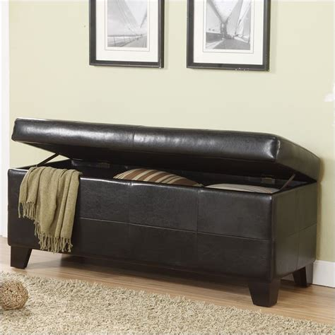 modus upholstered milano blanket storage bench black
