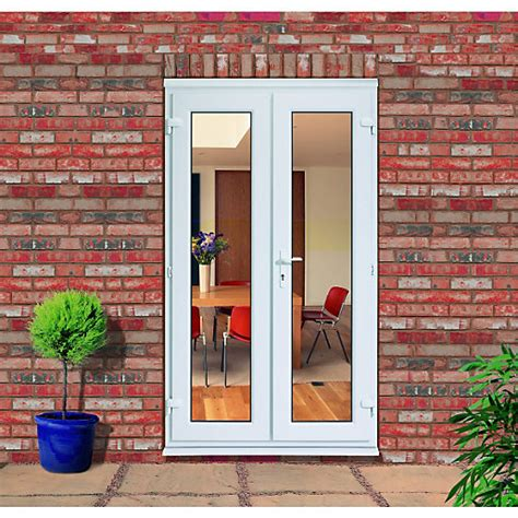 Wickes Exterior French Door Frame White 2090 x 1190mm Pack