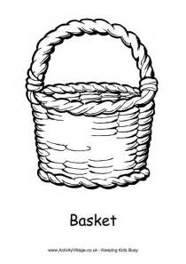 Basket Colouring Page 2 sketch template