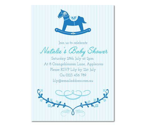 baby shower invitations for baby boy personalised rocking baby shower invitation baby boy