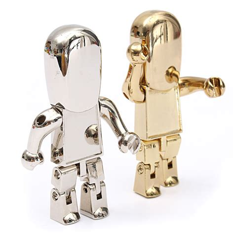 Meja Laptop Aluminium Model Robot buy 8gb usb 2 0 metal robot model flash drive memory storage pen u disk bazaargadgets
