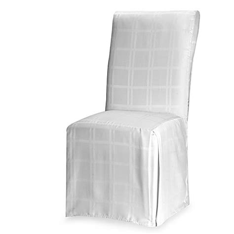 Dining Room Chair Covers White Origins Microfiber Dining Room Chair Cover Bed Bath Beyond