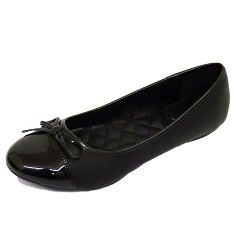flat black shoe flat black slip on comfy work shoes dolly ballet