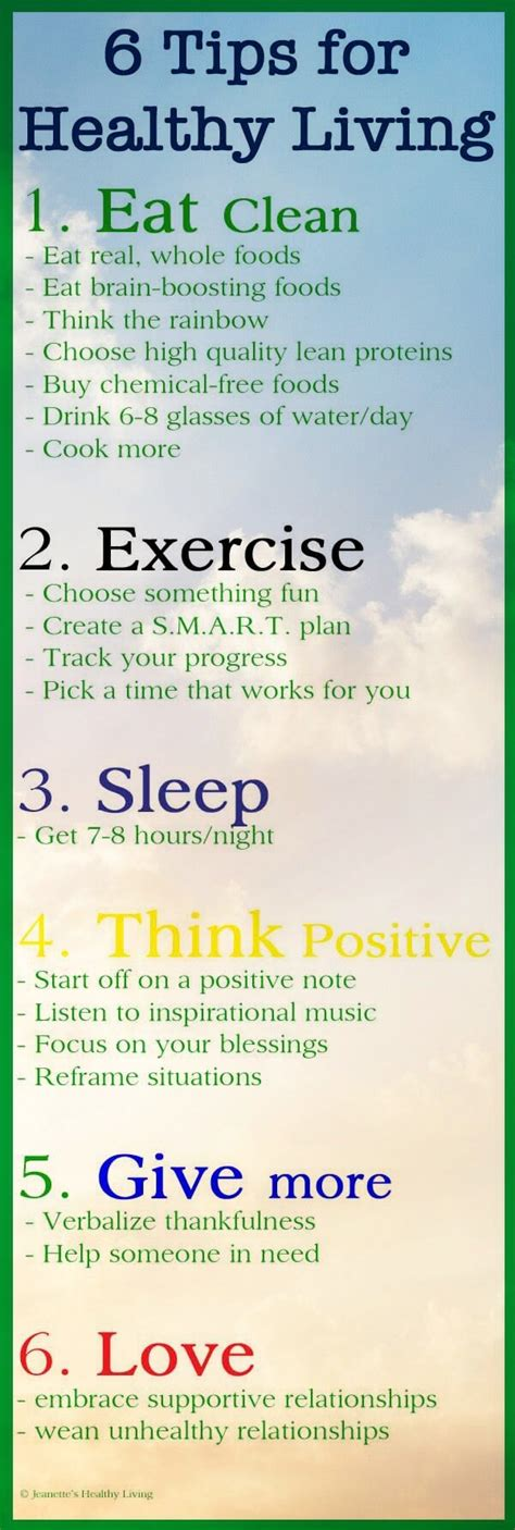 7 Tips On Living A Healthy Lifestyle by 6 Easy Tips For Improving Physical And Mental Health
