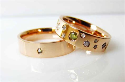 unique engagement rings wedding bands from etsy gold with