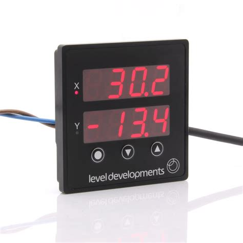 pdts  cost dual axis panel mount inclinometer display