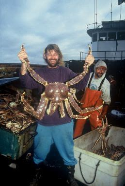did crab boat destination sink captain phil harris showing off an alaska king crab on the