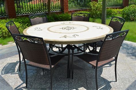 63 quot outdoor marble mosaic dining table luxor