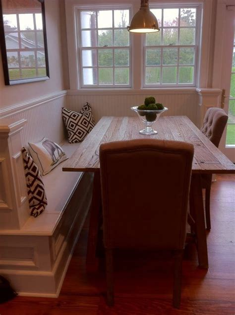 built in table 25 best ideas about bench kitchen tables on pinterest