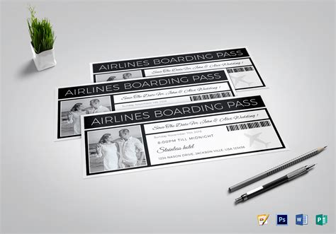 publisher save the date templates save the date boarding pass ticket design template in psd