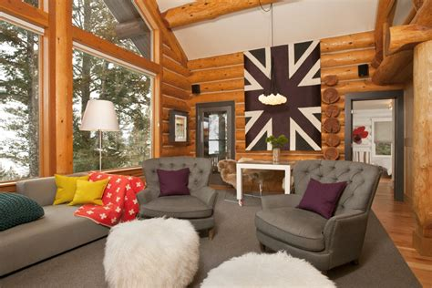 mountain home decorating ideas jackson hole contemporary log cabin designshuffle blog