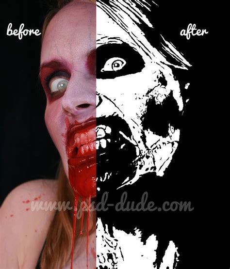 zombie tutorial using photoshop zombie halloween photoshop party flyer photoshop