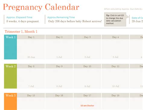 baby calendar template baby shower planner office templates