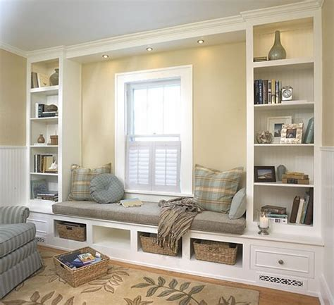 built in window seat built in shelves and window seat by cora for the home