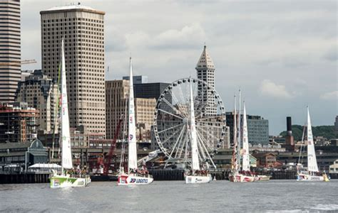 emily bambridge clipper race departs seattle and races brit on bicycle