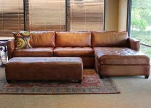 Colored Leather Sofas Camel Colored Leather Sectional Sofa Rooms