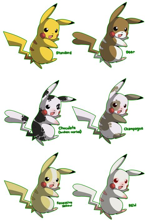 Or Variations Pkmn Pikachu Variations By Phantomania On Deviantart