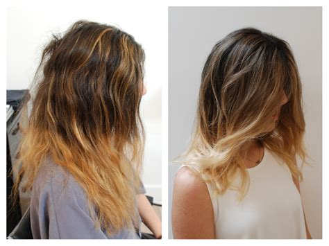 a line haircut ombre color solid line ombr 233 color correction hair color rehab
