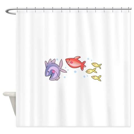shower curtain fish fish swimming shower curtain by greatnotions19