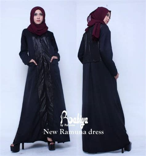 Baloteli Kyla Gamis Kyla Dress ramuna hitam baju muslim gamis modern
