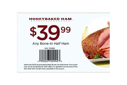 coupons honey baked ham online