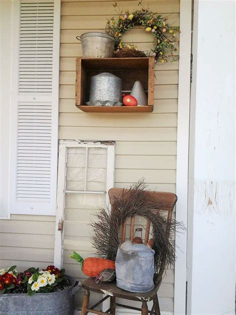 cute spring front porch loving  wooden crates