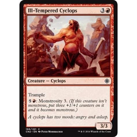 Ways To Deal With An Ill Tempered by Magic The Gathering Ill Tempered Cyclops Magic The