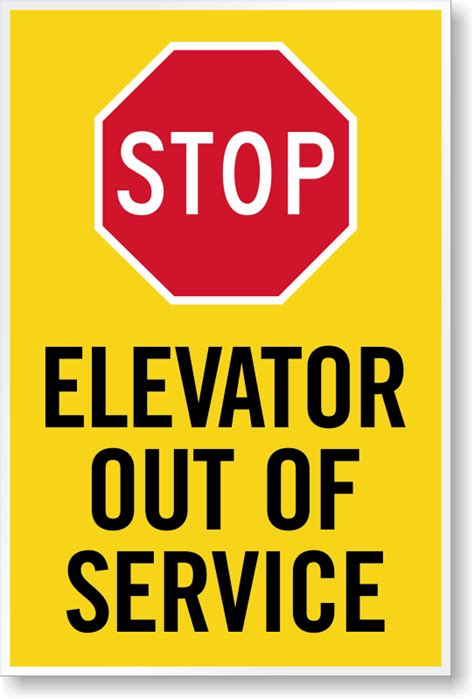 How To Make A Stop Sign Out Of Paper - stop elevator out of service sign panel