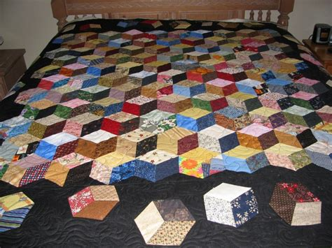 How To Make A Quilt Block by 36 Best Images About Quilt Tumbling Blocks On