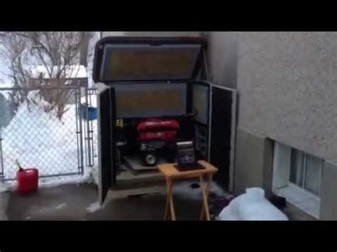 soundproof generator shed youtube