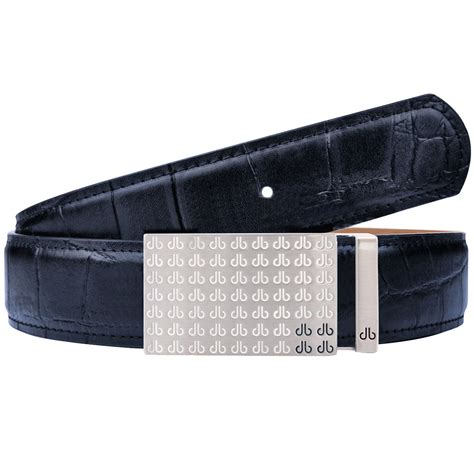 druh mens players crocodile leather golf belt one size