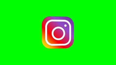 instagram logo  green screen animated hd