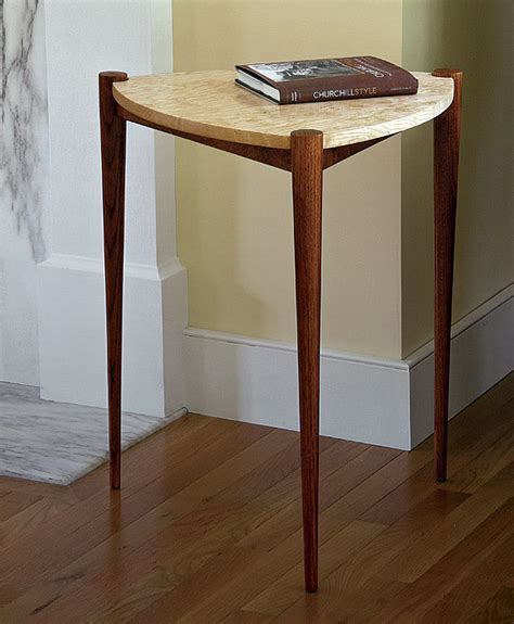 triangle side table finewoodworking