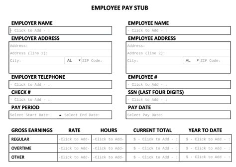 templates for pay stubs free pay stub template tips what to include